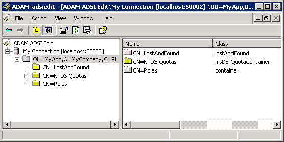 Active Directory for Application Mode