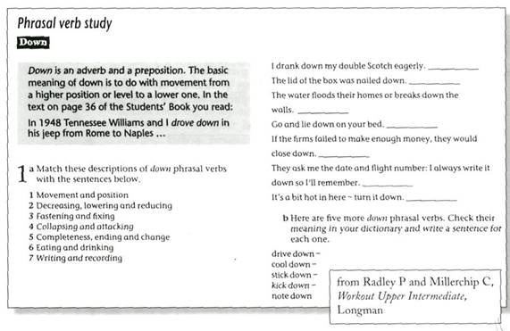 Studies lexical material of English