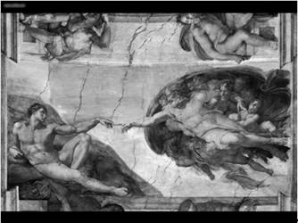 The Creation of Adam by Michelangelo Buonarotti