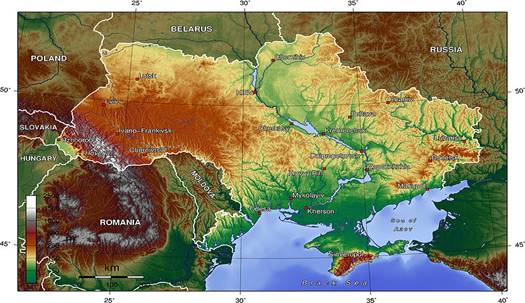 The Geographical Position of Ukraine